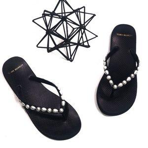 Tory Burch Seashell Flip Flops Size 8